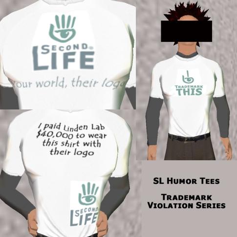 SL Humor Tees - SL Trademark Violation TShirts - 3 Pack