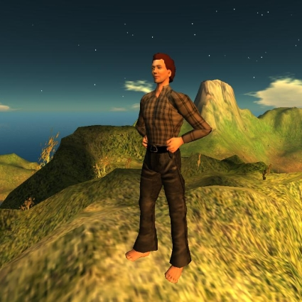 Morris Vig's first self-portrait in OpenSim